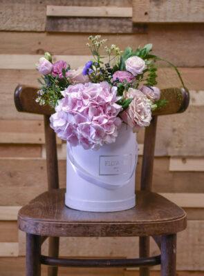 Růžový flowerbox