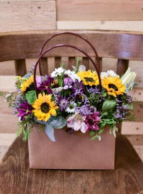 Taška barevných květů