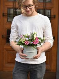 Malý růžový flowerbox