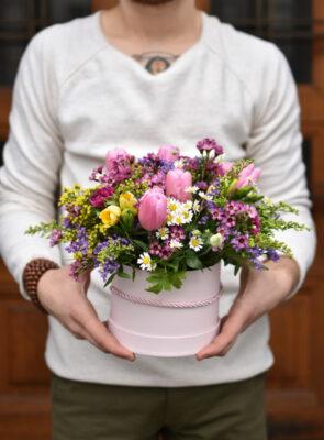 Střední jarní flowerbox