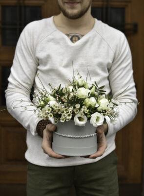 Střední bílý flowerbox