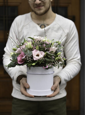 Střední růžový flowerbox