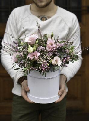 Velký růžový flowerbox