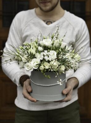 Velký bílý flowerbox