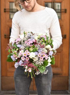 Obrovská růžová letní kytice