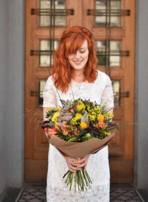 Velká podzimní míchaná kytice